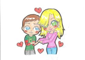 penny and sheldon by xxZombieHotKillaxx