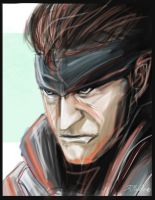 Solid Snake: portrait by shiprock