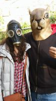Me And The Girl With He Gasmask by DJSkyBase