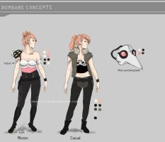 Concept Art: Bombabe Character Sheet by Chrissytor