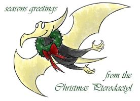 Christmas Pterodactyl by PaiwaYunder7