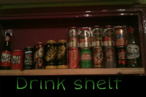 My drink shelf by SandFan0