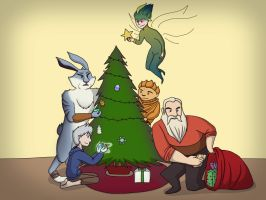 Happy Holidays from the Guardians by paego