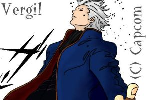 Vergil :Hair Flick: by Melafy-Starbringer