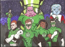 green lantern corp by RWhitney75