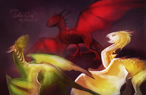 Khaleesi's Dragons by Endber