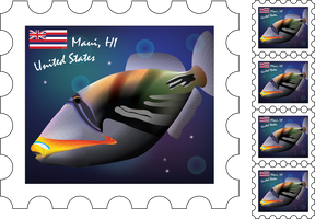 Hawaiian Stamp 1 by SiqueBrand
