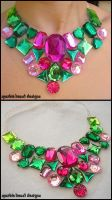 Juicy Watermelon Necklace by Natalie526