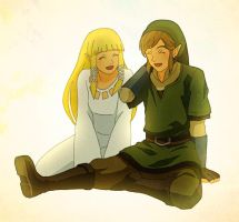 Link and Zelda by nogiho