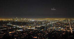Los Angeles Skyline at night by LelannAzalee