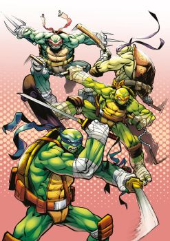 TMNT - Commission - Colors by darnof