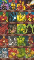 Iron Man 2 :: Sketchcards by basicnoir