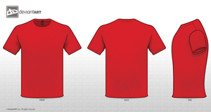 Red Tee Template PNG by sleeprobber