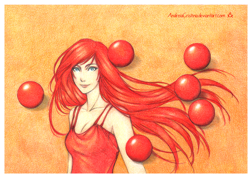 In red and orange by AndieCris