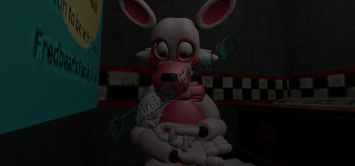 Baby Mangle and her Mother by CaptainFoxy18