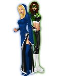 Blue v Green by LexiKimble