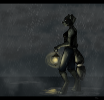 Rainy Days [Speed Paint] by Hazelmere