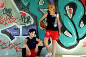Kise and Kasamatsu 01 by cosplay33