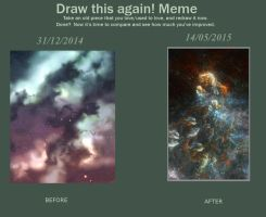 Meme : Draw this again! Dusty Sky ! by spinoza1996
