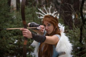 Skadi - winter goddess stock by Liancary-art