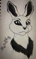 Masky Bunny  by puppykittons