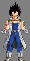 Adult Vegeta Jr. by hsvhrt