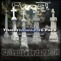 Tombstones PNG Pack by FrostBo