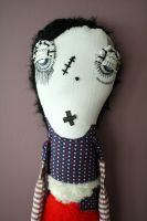 Midge the Monster art doll by themdollz