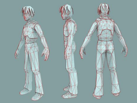 Low poly game character by Drudworks