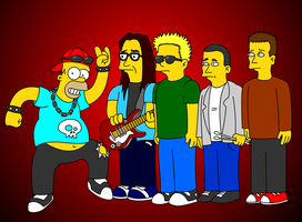 Homer and the Offspring by camiloandres