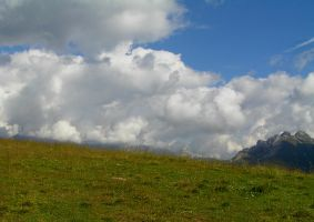 Meadows and clouds by edelweiss26