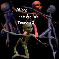 Stock Aliens by Twins72