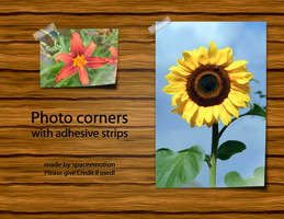 Photo corners with ... by spaceemotion