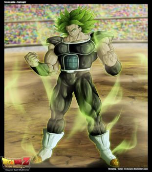 Fan art DB Multiverse : Broly Lssj Ghost Warrior by Crakower