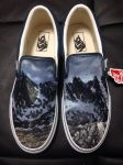 Custom painted mountain vans by dannyPs-customs