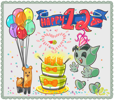 Happy 12th Birthday dA! by migbox