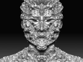 2ND ZBRUSH FACE FRONT by DIVERCITYSTUDIOS