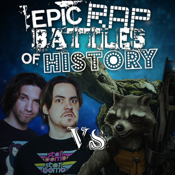 ERB Idea: Arin and Danny vs Rocket and Groot by Stofferex