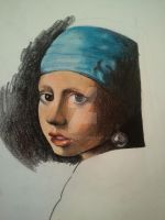 Girl With a Pearl Earring 1 by MaryCloe