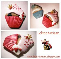 Queen of Hearts Cupcake by FelineArtisan