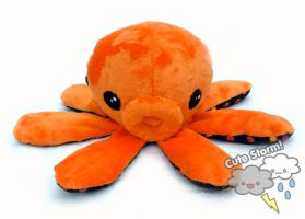 Orange Octoplush by The-Cute-Storm