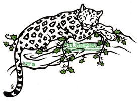 Jaguar And Ivy Tattoo by WildSpiritWolf