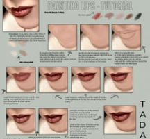Painting lips -TUTORIAL by 666Glass666