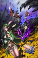 MH4U: Guildmarm vs Gore Magala by dinmoney