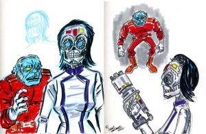 character designs for next Poster Comic by javierhernandez