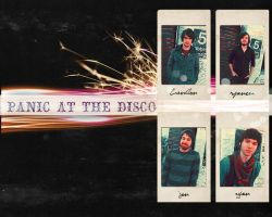 PANIC AT THE DISCO WALLPAPER by MissTwigg