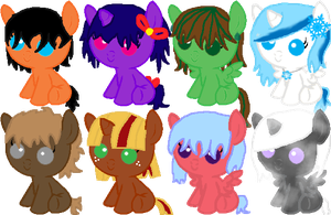 Baby Pony adoptables by RaindropLily