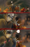 halloween with freddy by IcevenAse