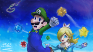 Art academy Wii U - Year of Luigi contest entry! by kjshadows131
