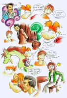 Doodles of fanfic Rayman and Dragon part 4 by Illegal-Dzhepaeva